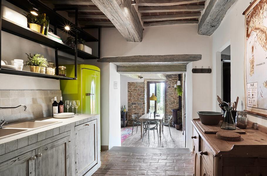 Küche im Ferienhaus Arco in Umbrien bei Perugia