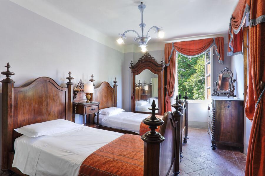 Die Doppelzimmer der Villa Clara eignen sich z.B. bei einem Urlaub mit Kindern