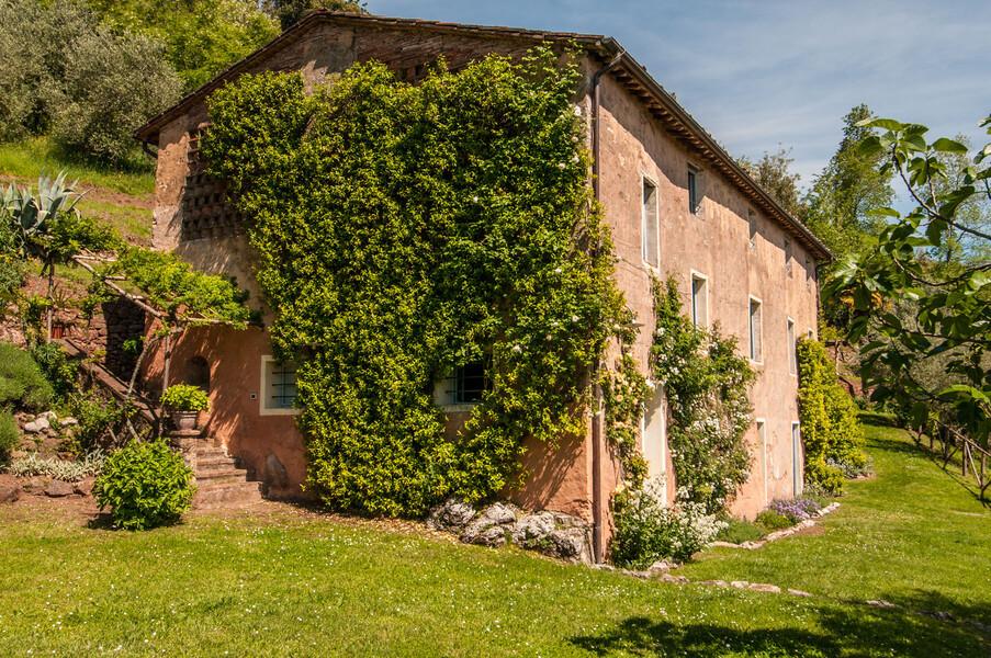 Ferienhaus bei Lucca in der Toskana mit schönem Garten mit Rasen
