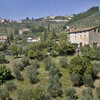 Blick über das große Anwesen der Ferienvilla Giannello bei Lucca