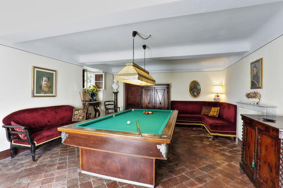Wie wäre es mit einer Runde Billiard - in unserem Ferienhaus in San Concordio Di Moriano